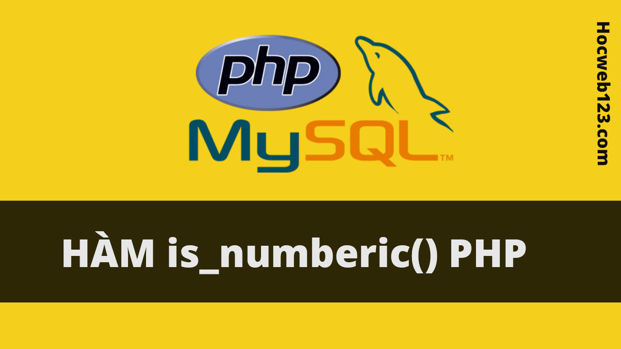Hàm is_numberic() trong Php