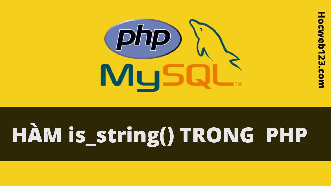 Hàm is_string() trong Php
