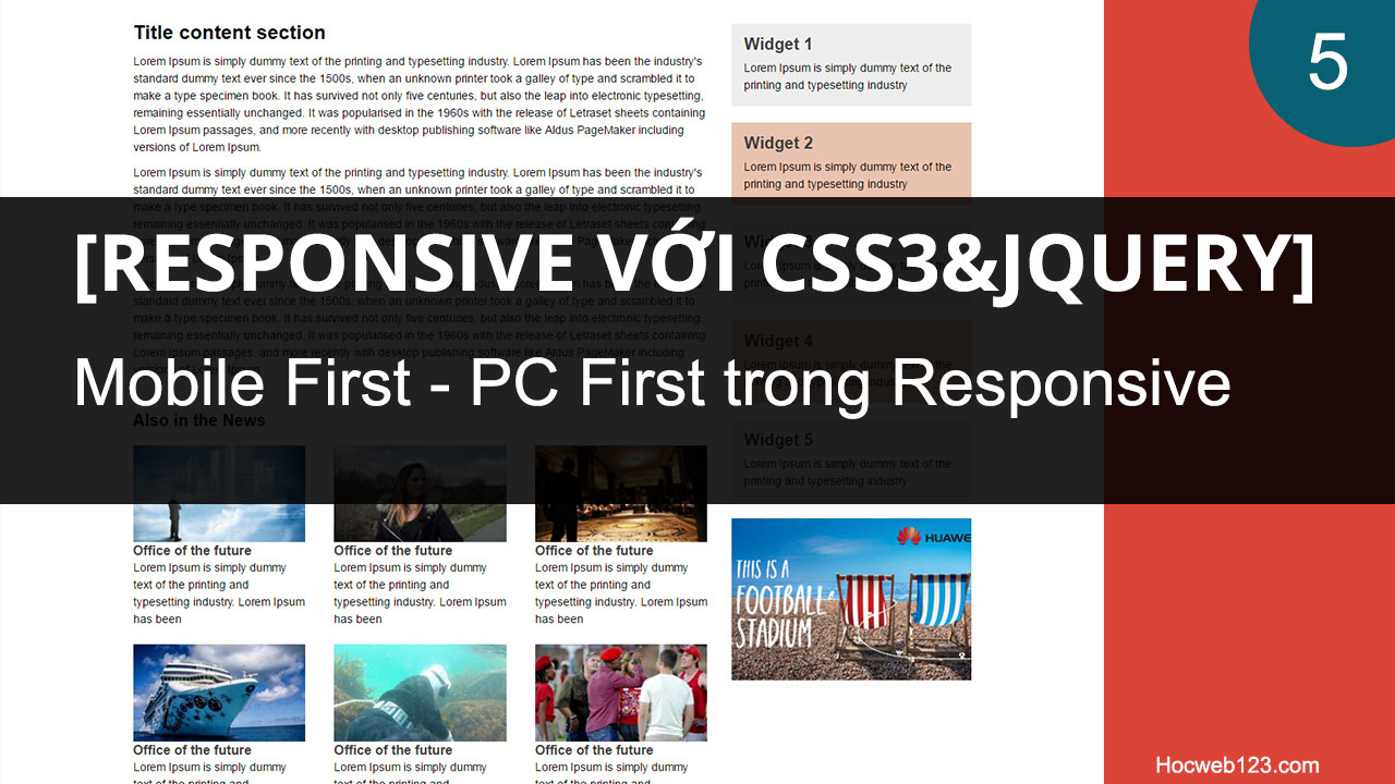 Media query, PC First, Mobile First trong Responsive web